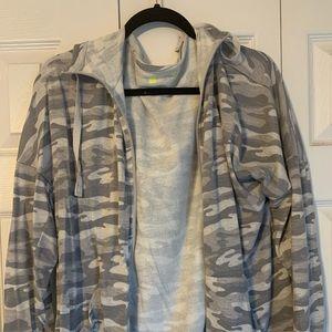 Grey Camo light Track Jacket
